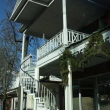 Historic staircase, Weaverville